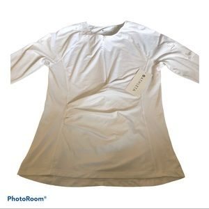 Athleta Pacifica Wrap Top NWT Bright White Small